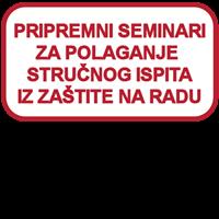 Slika Pripremni seminari za polaganje stručnog ispita za stručnjaka zaštite na radu