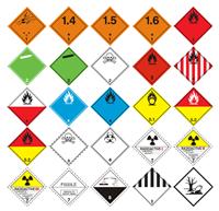 Slika Listice opasnosti 100x100 mm (naljepnice)