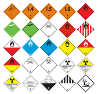 Slika Listice opasnosti 250x250 mm (reflektirajuće naljepnice)