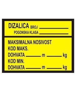 Picture of CS-INFO-DI-1 - Maksimalne nosivosti dizalica