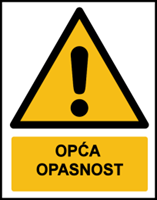 Picture of W001 - OPĆA OPASNOST (CS-OP-001)