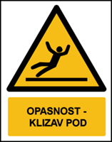 Picture of W011 - OPASNOST - KLIZAV POD (CS-OP-013)