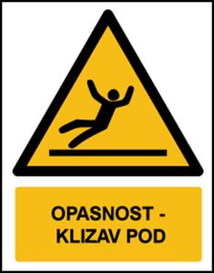 Picture of W011 - OPASNOST - KLIZAV POD (CS-OP-013)