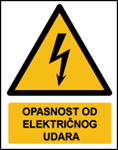 Picture of W012 - OPASNOST OD ELEKTRIČNOG UDARA (CS-OP-007) - naljepnica 180x230 mm