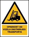 Picture of W014 - OPASNOST OD VOZILA UNUTARNJEG TRANSPORTA (CS-OP-010) - naljepnica 300x400 mm
