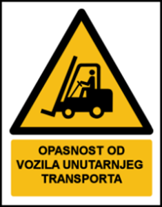 Picture of W014 - OPASNOST OD VOZILA UNUTARNJEG TRANSPORTA (CS-OP-010)