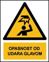 Picture of W020 - OPASNOST OD UDARA GLAVOM (CS-OP-027)