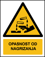 Picture of W023 - OPASNOST OD NAGRIZANJA (CS-OP-004)