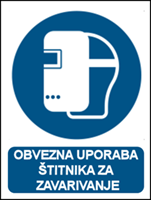 Picture of M019 - OBVEZNA UPORABA ŠTITNIKA ZA ZAVARIVANJE (CS-OB-020)