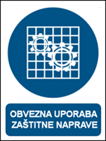 Picture of M027 - OBVEZNA UPORABA ZAŠTITNE NAPRAVE (CS-OB-015)