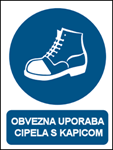 Picture of CS-OB-017 - OBVEZNA UPORABA CIPELA S KAPICOM - naljepnica 180x230 mm