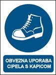 Picture of CS-OB-017 - OBVEZNA UPORABA CIPELA S KAPICOM - PVC ploča 260x340 mm