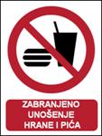 Picture of P022-B - ZABRANJENO UNOŠENJE HRANE I PIĆA (CS-ZA-011-B) - naljepnica 180x230 mm