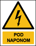 Picture of CS-OP-034 - POD NAPONOM - naljepnica 50x60 mm