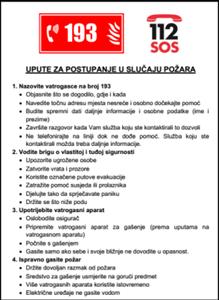 Picture of CS-USR-002 - UPUTA ZA POSTUPANJE U SLUČAJU POŽARA
