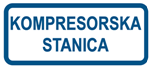 Picture of CS-INFO-046 - KOMPRESORSKA STANICA - naljepnica 400x200 mm