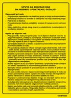 Slika CS-USR-003 - UPUTA ZA SIGURAN RAD NA MOSNOJ I PORTALNOJ DIZALICI