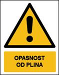 Picture of CS-OP-020 - OPASNOST OD PLINA - naljepnica 180x230 mm