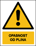 Picture of CS-OP-020 - OPASNOST OD PLINA - PVC ploča 260x340 mm