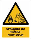 Picture of CS-OP-019 - OPASNOST OD POŽARA I EKSPLOZIJE - naljepnica 100x120 mm