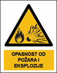 Picture of CS-OP-019 - OPASNOST OD POŽARA I EKSPLOZIJE - PVC ploča 180x230 mm