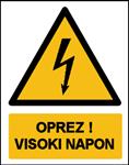 Picture of CS-OP-033 - OPREZ! VISOKI NAPON - PVC ploča 260x340 mm