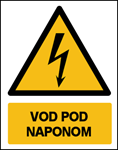 Picture of CS-OP-018 - VOD  POD NAPONOM - naljepnica 100x120 mm