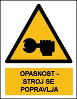 Picture of CS-OP-026 - OPASNOST - STROJ SE POPRAVLJA