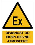 Picture of CS-OP-046 - OPASNOST OD EKSPLOZIVNE ATMOSFERE - naljepnica 100x120 mm