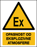 Picture of CS-OP-046 - OPASNOST OD EKSPLOZIVNE ATMOSFERE - naljepnica 180x230 mm