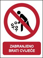 Slika CS-ZA-205 - ZABRANJENO BRATI CVIJEĆE