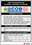 Picture of CS-USR-014 - UPUTA ZA SIGURAN RAD S BOJAMA, LAKOVIMA I OTAPALIMA - PVC ploča 200x300 mm