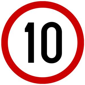 Picture of CS-INFO-070 - OGRANIČENJE BRZINE 10 km/h
