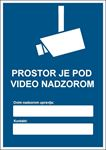 Picture of CS-VID-005 - PROSTOR JE POD VIDEO NADZOROM (GDPR) - naljepnica 100x140 mm