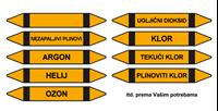 Slika CS-CJ-05 - NEZAPALJIVI PLINOVI - naljepnica 157x26 mm
