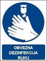 Slika CS-OB-051 - OBVEZNA DEZINFEKCIJA RUKU